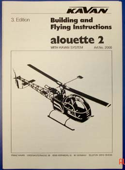 "2057a - Assembly & flying instructions""ALOUETTE II"""